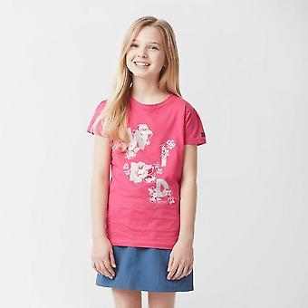 Nieuwe Regatta meisje ' s Bosley Coolweave korte mouw T-shirt roze