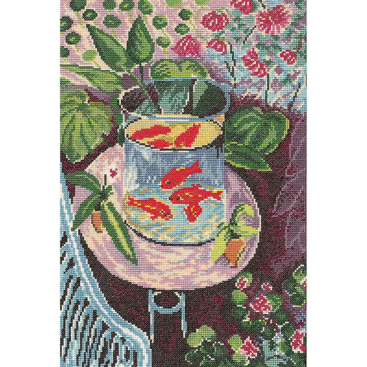 Red Fish Counted Cross Stitch Kit 9 3 4