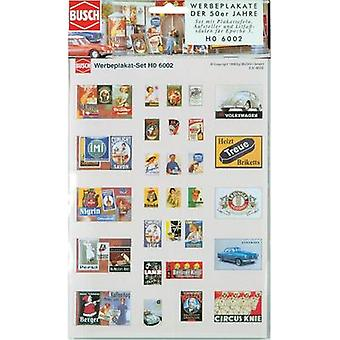 Busch 6002 HO advertising posters set