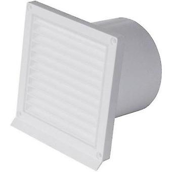 WallairVentilation technology Outer grid with supports and backflow flap White