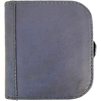 Mens Leather Large Square Money Tray / Coin Holder / Purse - Navy
