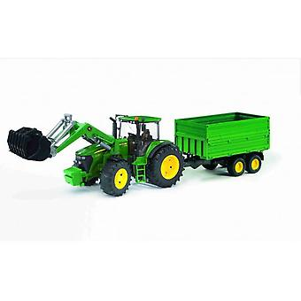 Bruder John Deere 7930 With Front Loader and Trailer