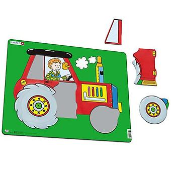 Larsen Large Tractor Puzzle 10 Pieces (Toys , Boardgames , Puzzles)