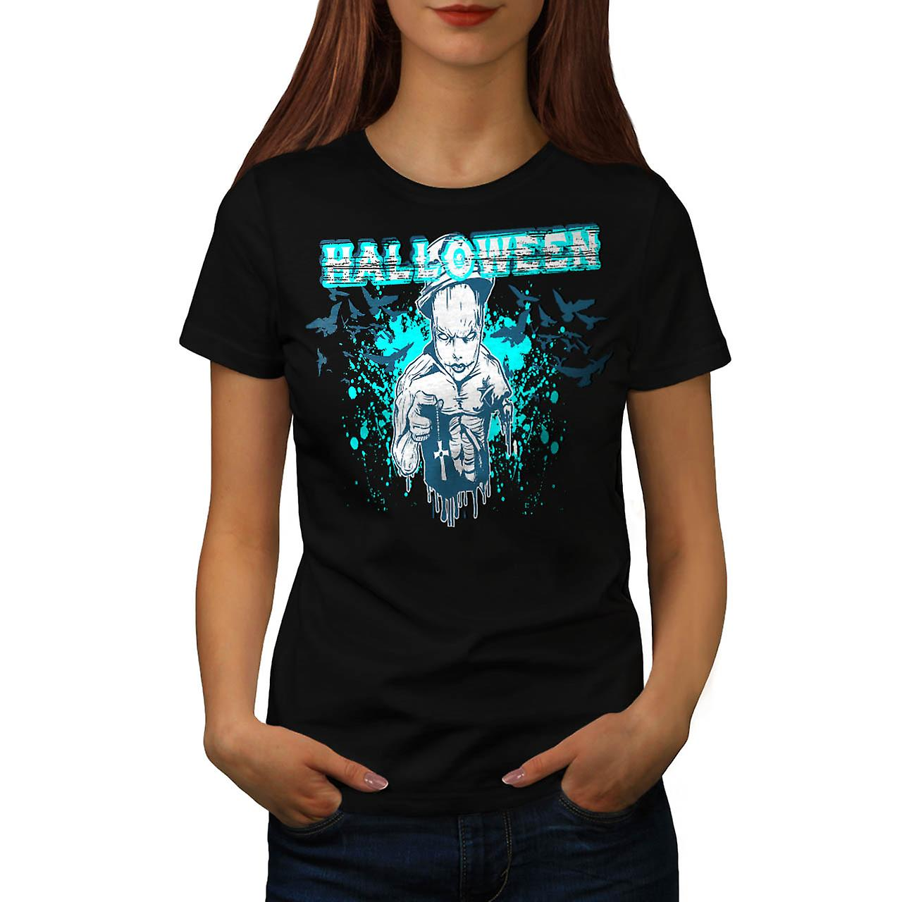Halloween Horror Cult Women Black T-shirt | Wellcoda