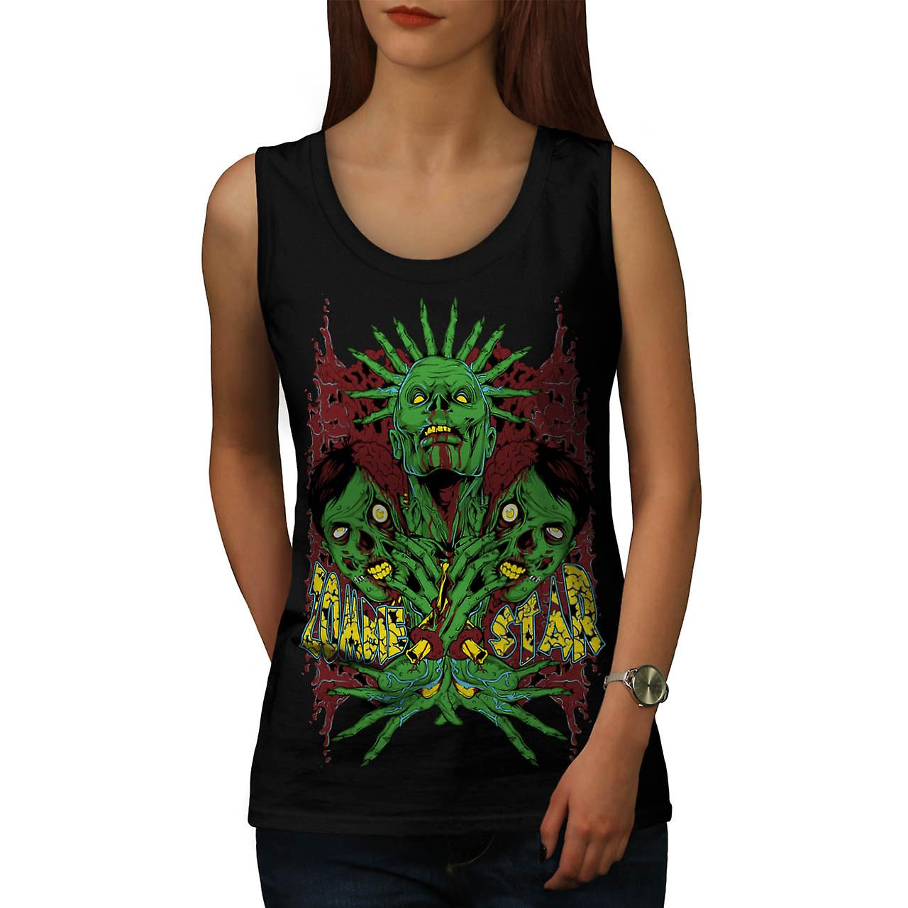 Monster Zombie Star Nightmare Women Black Tank Top | Wellcoda