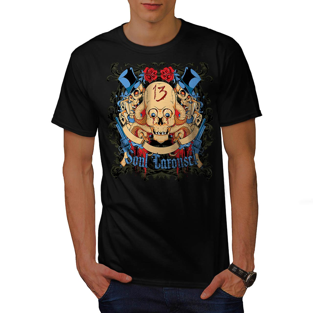 Soul Carousel Skull Terror Ride Men Black T-shirt | Wellcoda