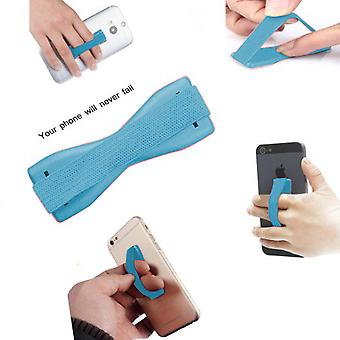 ONX3 (Baby Blue) HTC U Play Universal Anti-Slip Elastic Finger Mobile Phone Grip Holder With Strong Adhesive