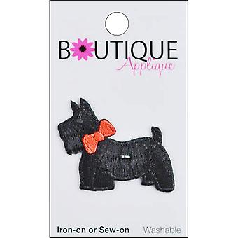 Iron-On Appliques-Scotty Dog W/Bow A001300-212