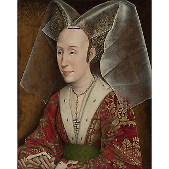 Portrait Of Isabella Of Portugal Poster Print