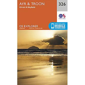 Ayr and Troon 9780319245781 by Ordnance Survey