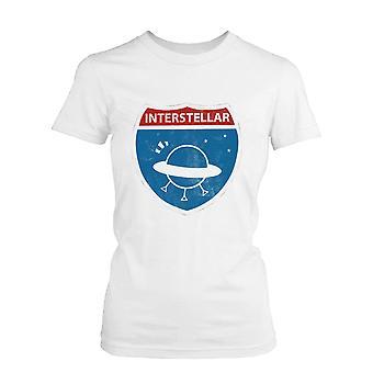 Frauen interstellaren lustige Grafik weißes T-Shirt