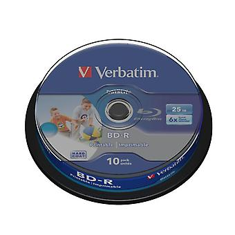 VERBATIM BD-R 25GB 6x 10-pack Spindel Printbar