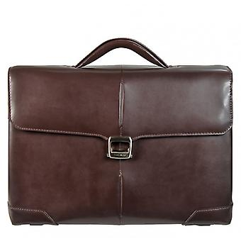 SAMSONITE S-OULITE 16tum Brown Leather Briefcase bag Medium