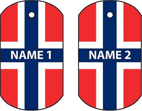 Personalised Norway Dog Tag Car Air Freshener