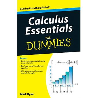 Calculus Essentials For Dummies (Paperback) by Ryan Mark