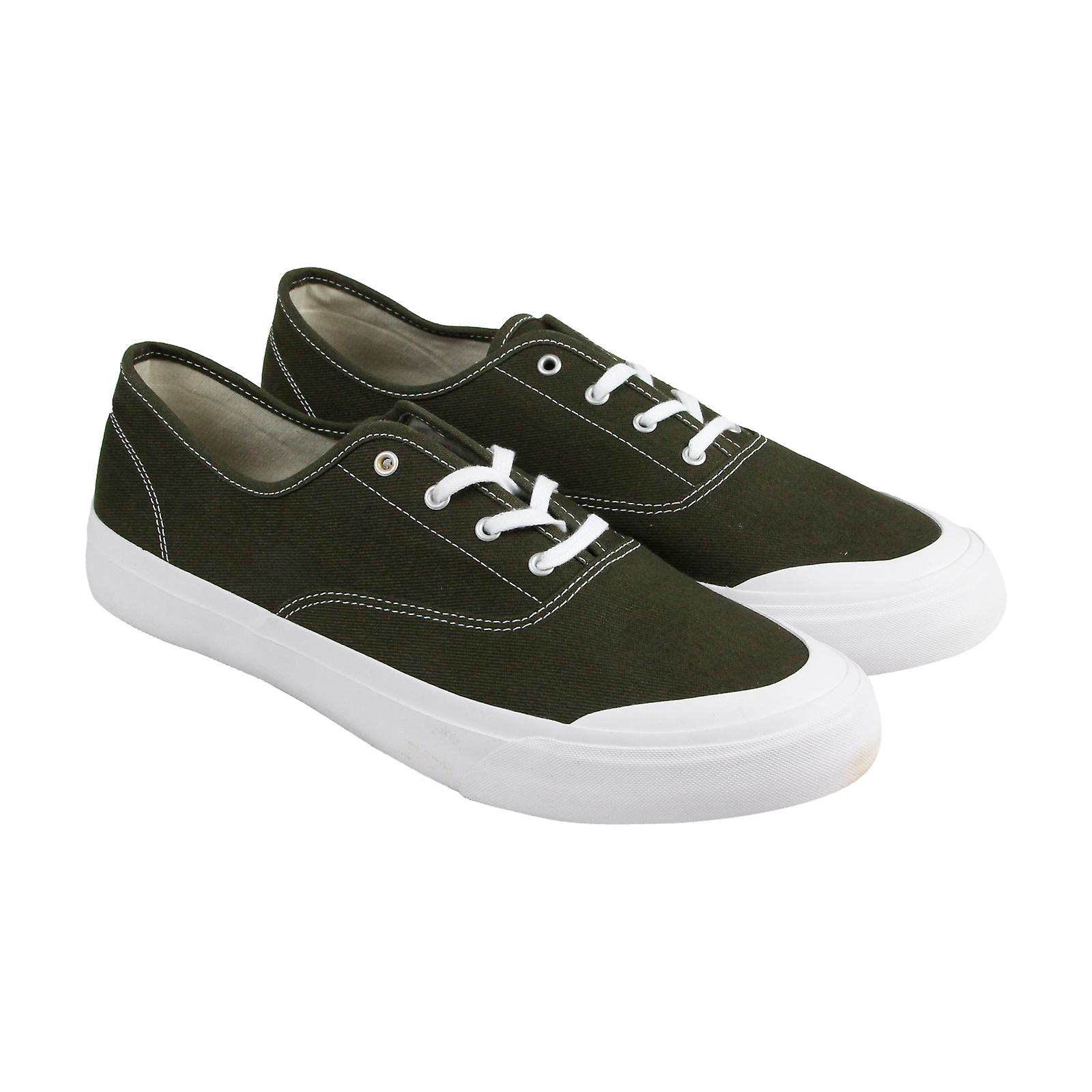 HUF Cromer Mens Green Canvas Lace Up Sneakers Shoes