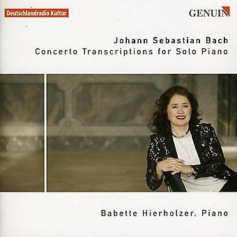 J.S. Bach - Bach: Concerto transskriptioner for Solo klaver [CD] USA import