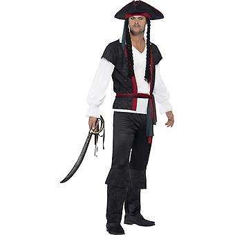 Pirat Kapitän Freibeuter Seeräuber Herren Kostüm