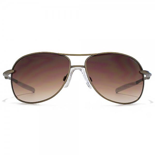 Animal Cork Metal Pilot Sunglasses In Light Antique Bronze