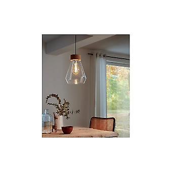 Eglo BRIXHAM Chrome glas Vintage plafond licht hanger