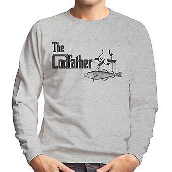 O padrinho Codfather logotipo camisola homens de pesca