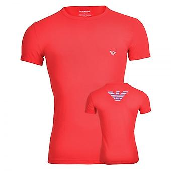 Emporio Armani Eagle Athletics Crew Neck T-Shirt, Red, X Large