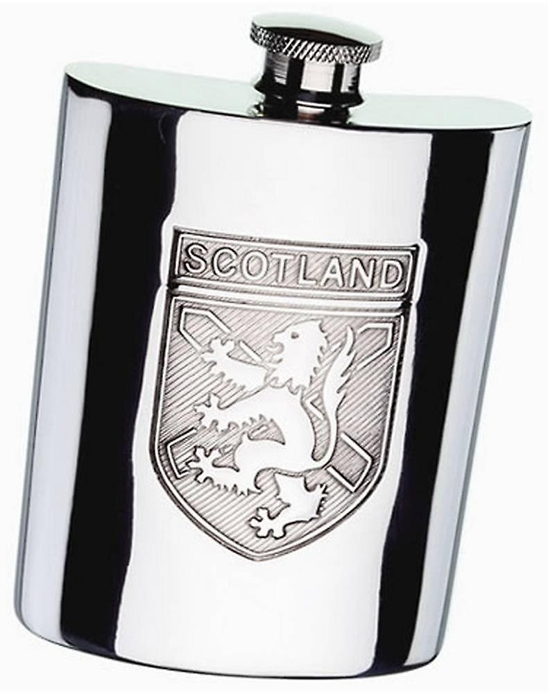 David Van Hagen Pewter Scotland 6oz Hip Flask - Silver