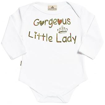 Spoilt Rotten Gorgeous Little Lady Organic Babygrow