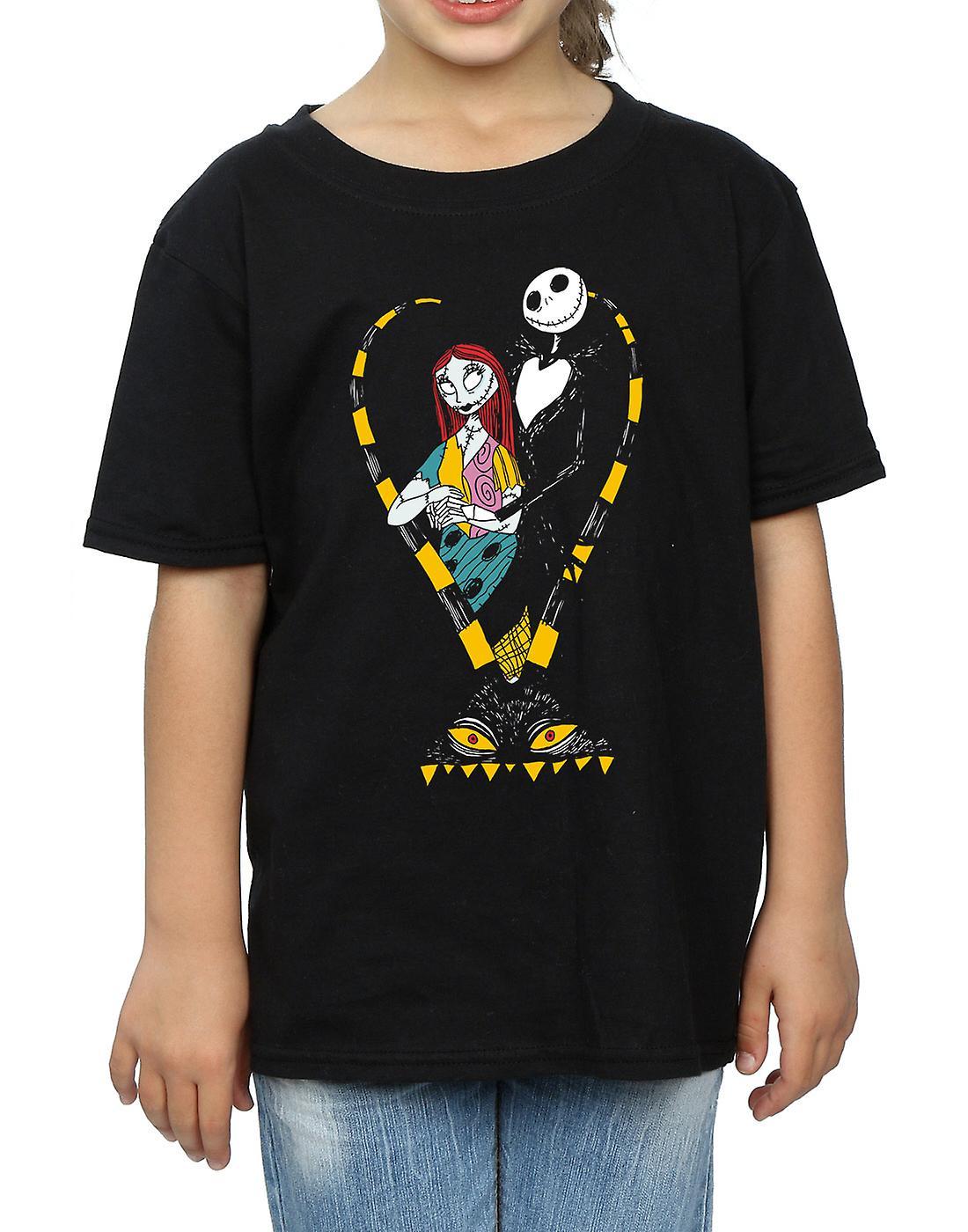 Disney Girls Nightmare Before Christmas Jack and Sally Love T-Shirt ...