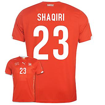 2014-15 Zwitserland World Cup Home Shirt (Shaqiri 23)