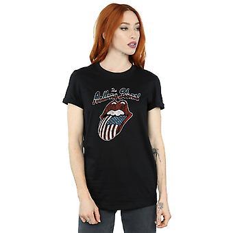 Rolling Stones kvinders Tour Of America kæreste Fit T-Shirt