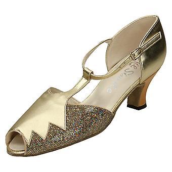 Ladies Nil Simile Peep Toe Court Shoes Coral
