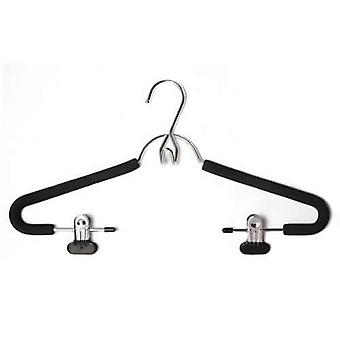 Chrome Plated Suit Hanger with Non-Slip Foam & 2 Adjustable Clips