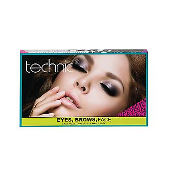 Technic ögon, bryn, möta Wake Up & Make Up Face Palette