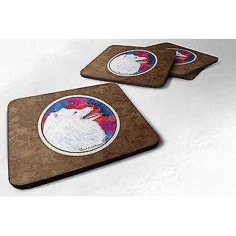 Carolines Treasures  SS8752FC Set of 4 Samoyed Foam Coasters