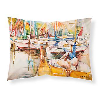 Sailboat  with Pelican Golden Days Fabric Standard Pillowcase