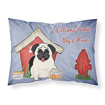 Dog House Collection Pug Cream Fabric Standard Pillowcase