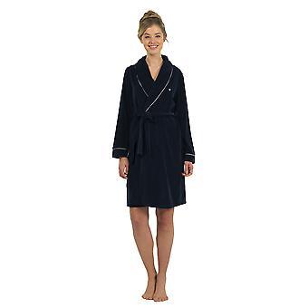 BlackSpade 6100-050 Women's Navy Dressing Gown Loungewear Bath Robe