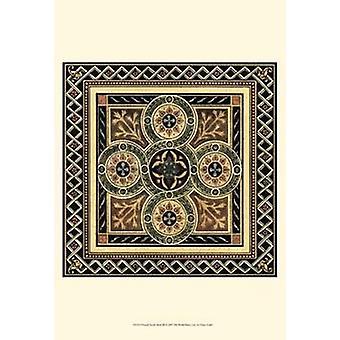 Printed Textile Motif III Poster Print (13 x 19)