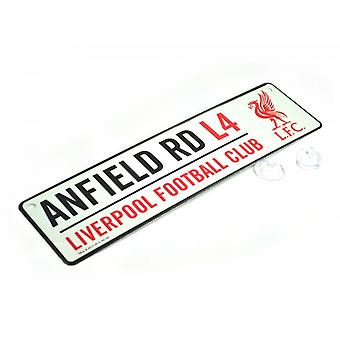 Liverpool FC Official Football 3D Embossed Metal Hanging Street Sign