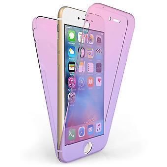 iPhone 7 Full Body 360 TPU Gel Case - Pink / Purple