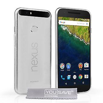 Guarde acessórios Huawei Nexus 6P 0,6 milímetros ultra fino Gel caso - Clear