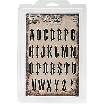 Idea-Ology Cling Foam Stamps 28/Pkg-Gothic Uppercase 1.25