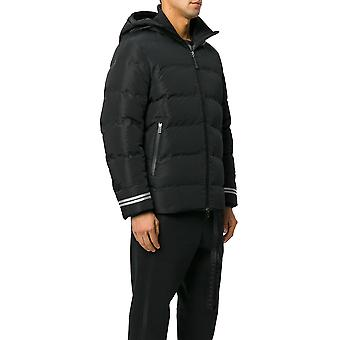 Neil Barrett men's PXSP270B6101 black polyester Quilted Jacket