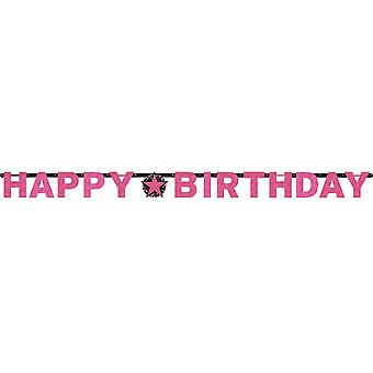 Amscan Prism Pink Happy Birthday Letter Banner