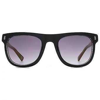 Hook LDN Latitude Chunky Retro Acetate Sunglasses In Black On Clear