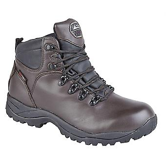 Mens Leather Waterproof Superlight Hiking Walking Trail Ankle Boots Shoes