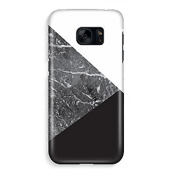 Samsung S7 Full Print Case - Marble combination