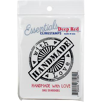 Dieprood Cling stempel 3