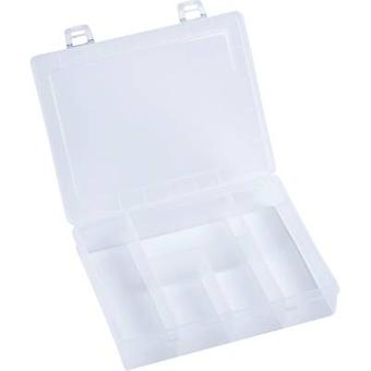 Assortment box (L x W x H) 180 x 140 x 40 mm Alutec No. of compartments: 5 fixed compartments